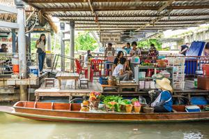 泰國水上市場 曼谷水上市場 Taling Chan Floating Market 水上市集