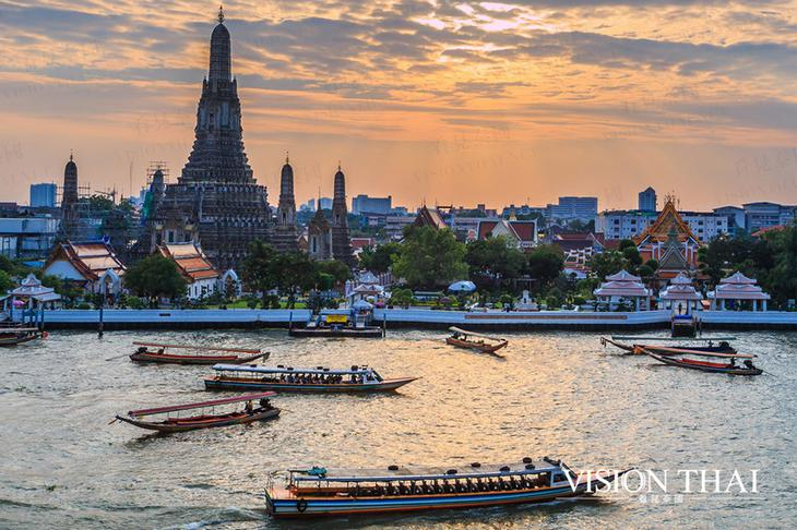 黎明寺,觀賞曼谷日落最佳點的廟宇。