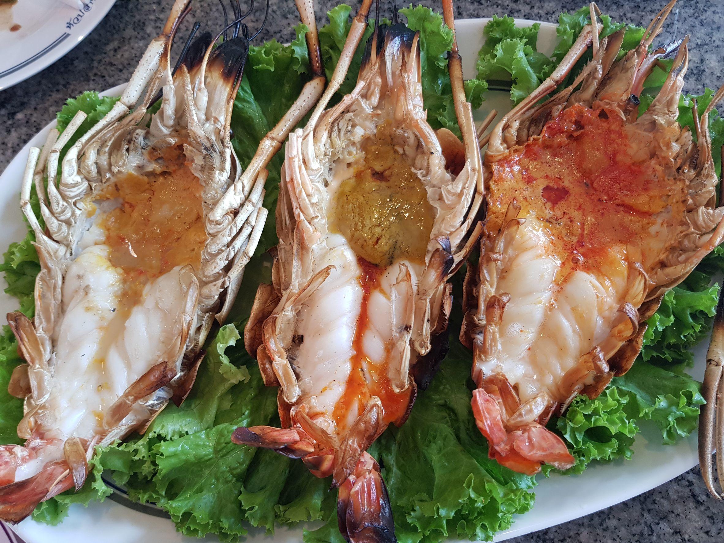 烤泰國蝦也是該店必點菜色