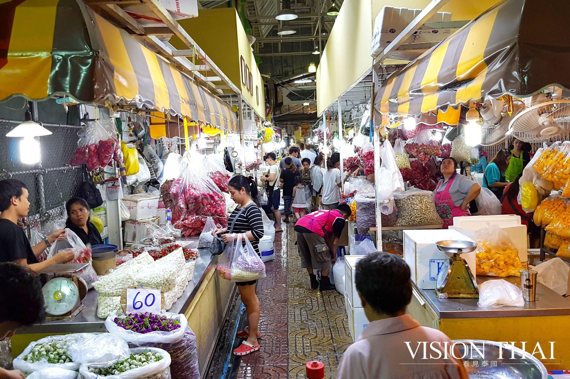 曼谷派克隆花市Pak Khlong Talat 曼谷規模最大也最有歷史的花卉市場
