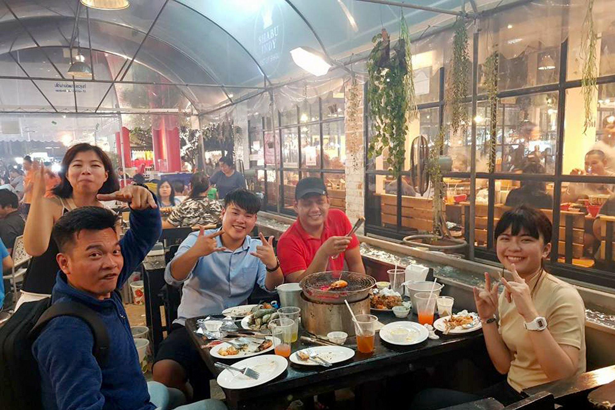 曼谷Taikong流水蝦海鮮餐廳主打各種海鮮吃到飽