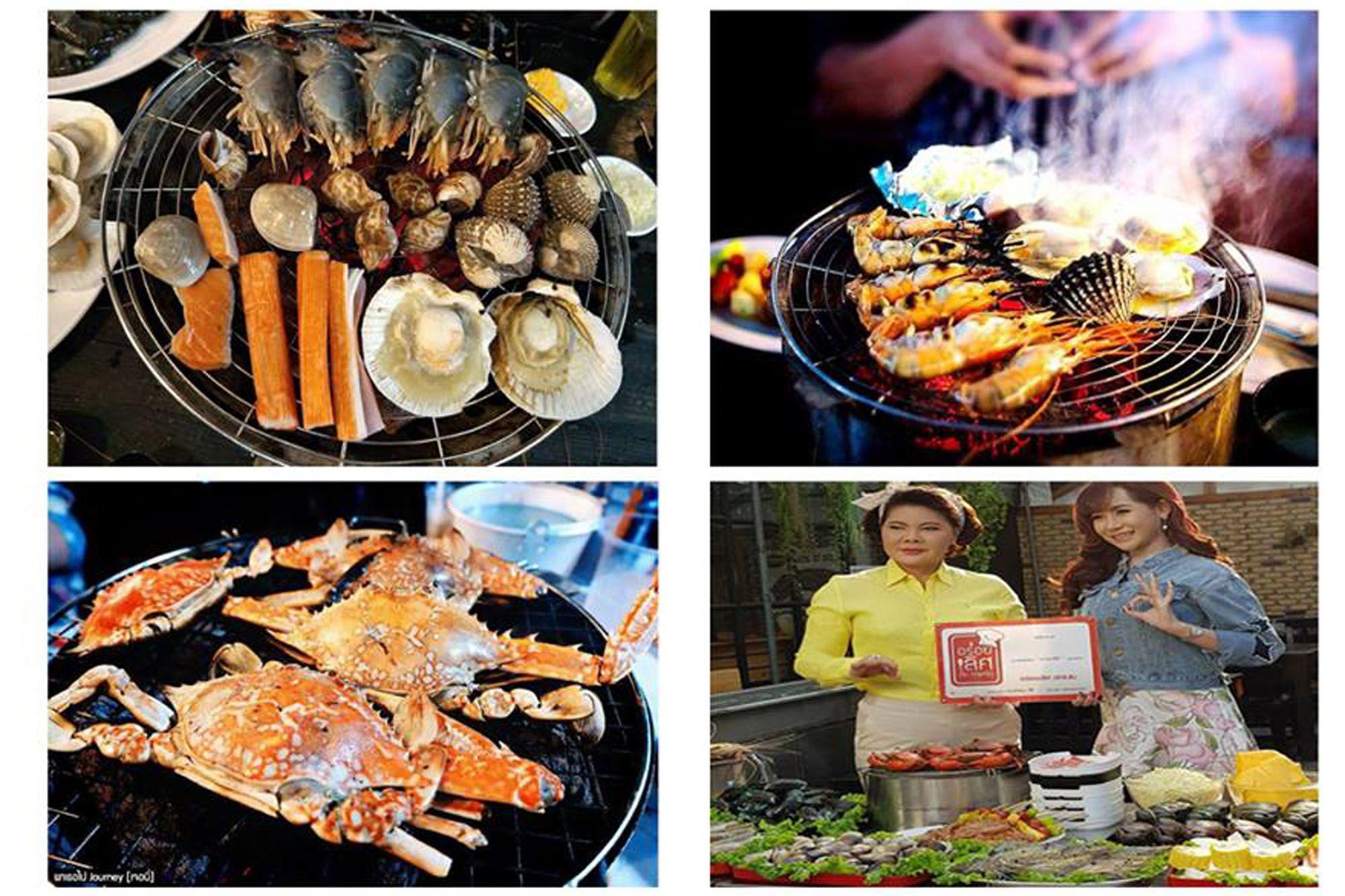 曼谷Taikong流水蝦海鮮餐廳多種海鮮選擇,還可現撈泰國蝦。