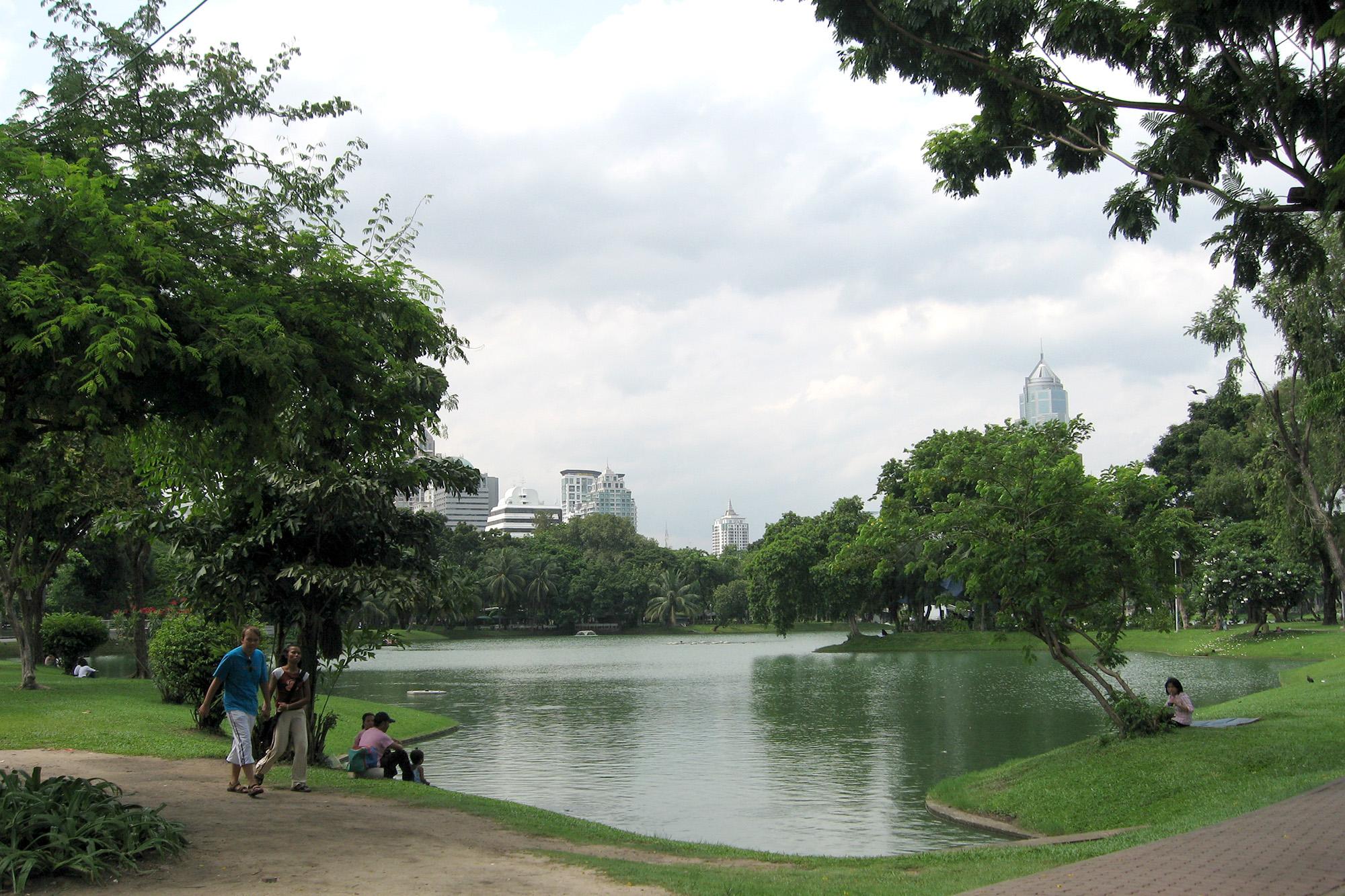 倫披尼公園 Lumphini Park 曼谷 倫披尼公園 曼谷 公園 曼谷 水燈節景點