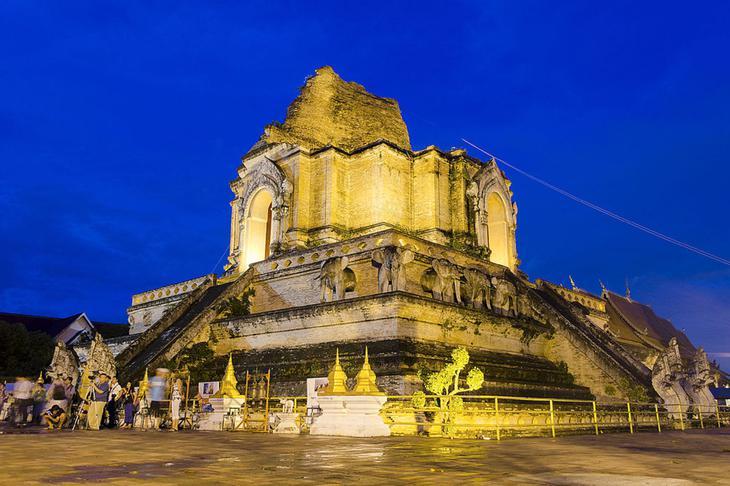 清邁古城保存良好,此為清邁最高寺廟的柴迪隆寺(網路圖片)