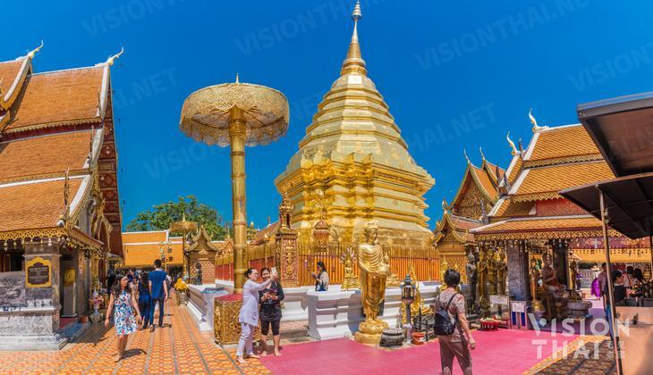 清邁素帖寺位於清邁山區,是當地知名的清邁寺廟(VISION THAI 看見泰國)
