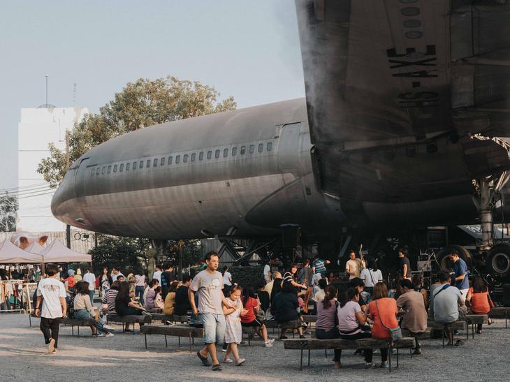 曼谷畅萃文创园区(ChangChui)的飞机是一大亮点