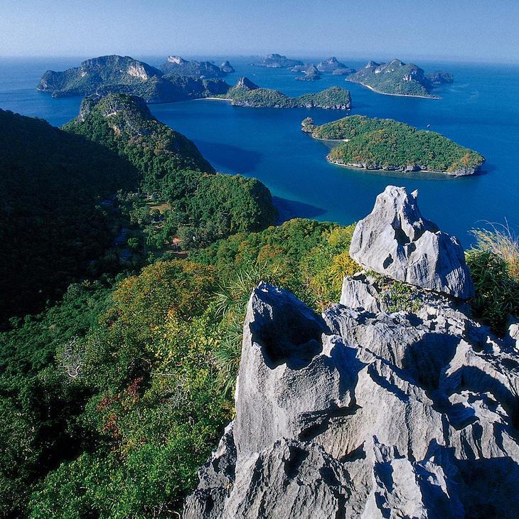 安通國家海洋公園是蘇美島熱門景點之一(圖片來源:TAT泰旅局)