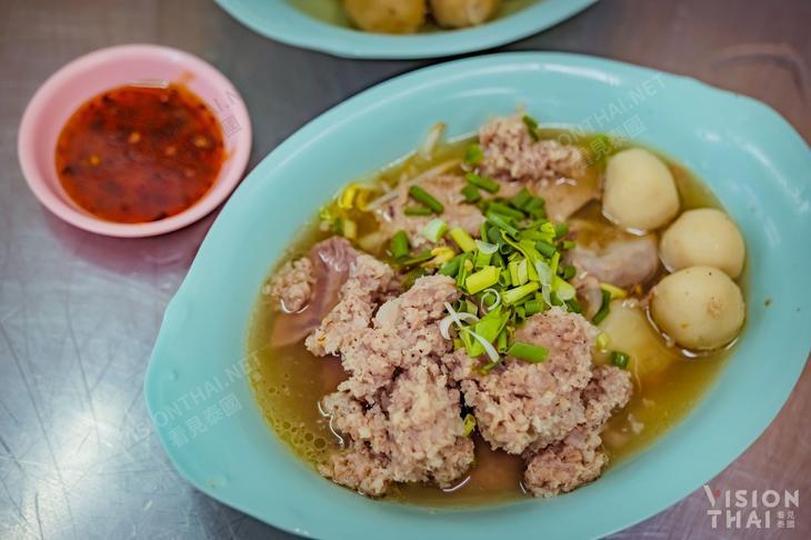 榮泰粿條 Rung Reung(哥哥店)綜合豬肉尖米圓(圖片來源:VISION THAI看見泰國)